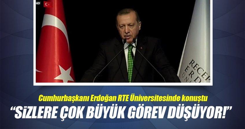 Cumhurbaşkanı, RTE Üniversitesi'nde konuştu