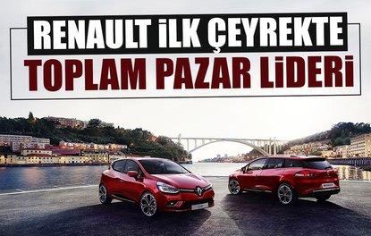 RENAULT İLK ÇEYREKTE TOPLAM PAZAR LİDERİ