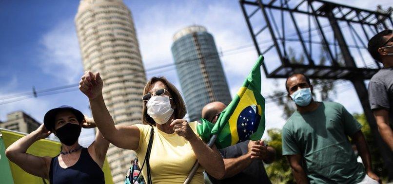 THOUSANDS TAKE TO STREETS PROTESTING BRAZILS BOLSONARO