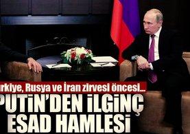 Esad, Rusya'da Putin ile görüştü!