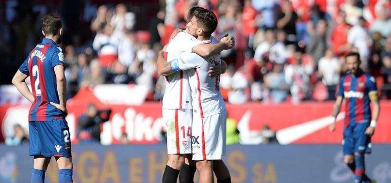 SEVILLA ROUTS LEVANTE 5-0 TO END WINLESS STREAK IN SPAIN