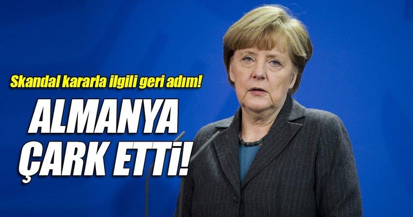 Almanya'dan geri adım!