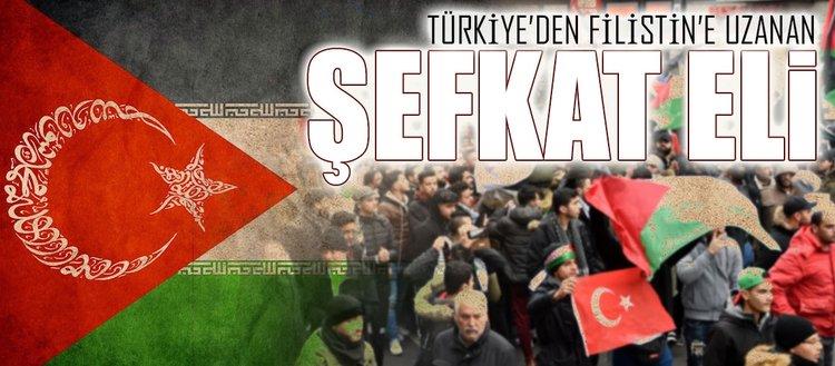 Türk halkı Filistin'i yalnız bırakmadı