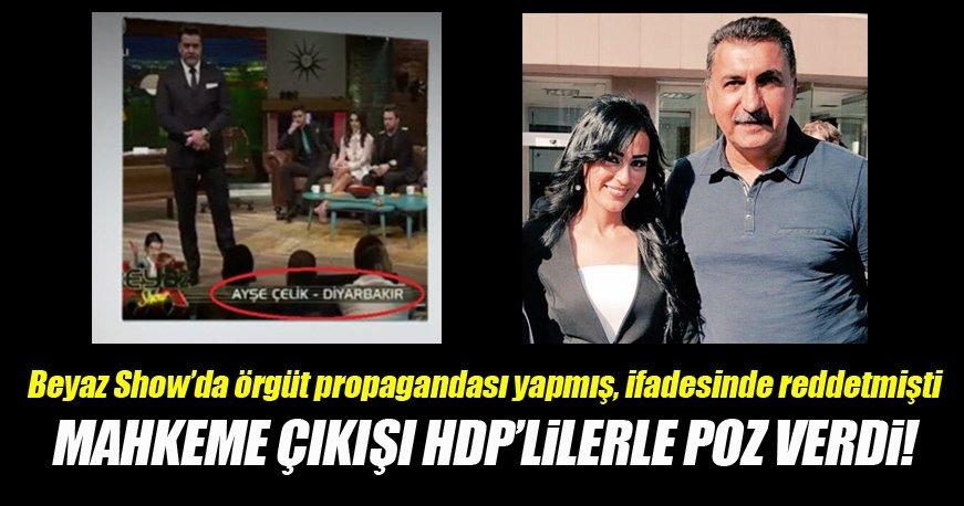 Mahkeme çıkışı HDP'lilerle poz verdi