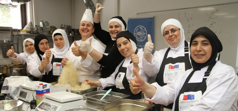 SYRIAN WOMEN LEARN TURKISH CUISINE TO BECOME FUTURE CHEFS