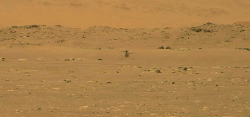 NASAS HELICOPTER MAKES FIRST FLIGHT ON MARS