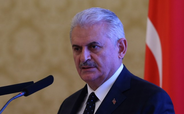 Prime Minister Binali Yıldırım during his visit to Russia on Dec. 7.