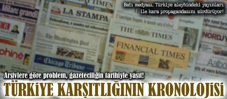 Batı medyasında Türkiye karşıtlığının kronolojisi