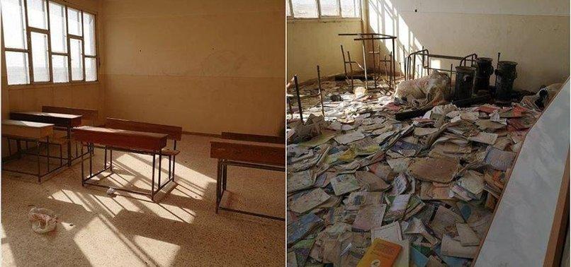 TERRORIST YPG/PKK USED SYRIAN SCHOOL AS HIDEOUT