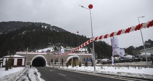Built within the Ilgaz Mountain, which causes problems for drivers during the winter, Ilgaz Tunnel opened yesterday.