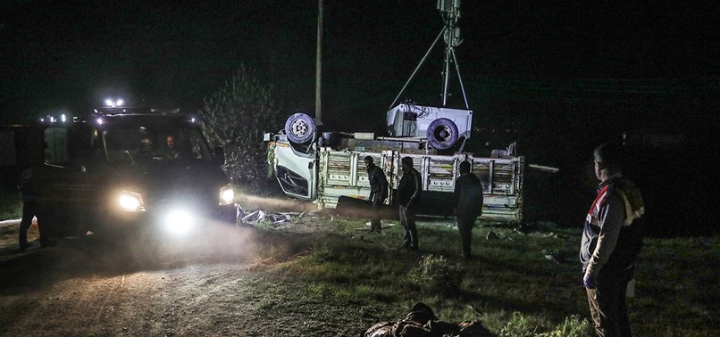 5 KILLED, 37 WOUNDED AS TRUCK CARRYING REFUGEES OVERTURNS IN TURKEY'S VAN