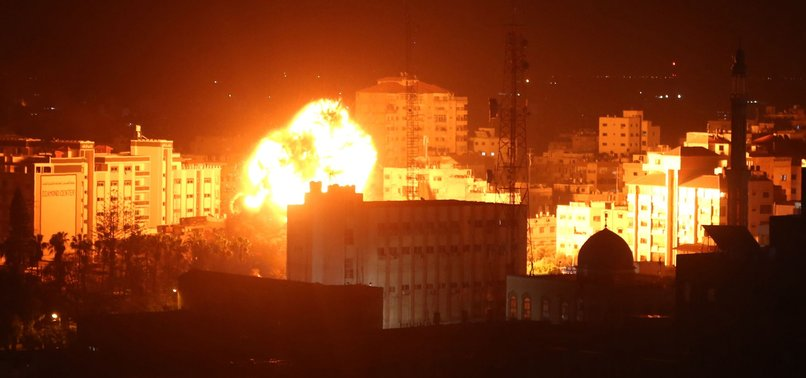 ISRAEL HITS HAMAS TARGETS IN GAZA STRIP