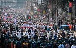 Thousands of Bangladeshi protesters stage rally in Dhaka to call for boycott of French goods