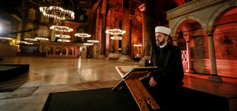 PRAYERS HELD IN HAGIA SOPHIA TO CELEBRATE 567TH ANNIVERSARY OF CONQUEST OF ISTANBUL AFTER TURKEY REOPENS MOSQUES