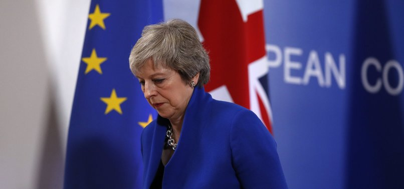 UK PREMIER THERESA MAY TO QUIT ONCE BREXIT HAS BEEN DELIVERED