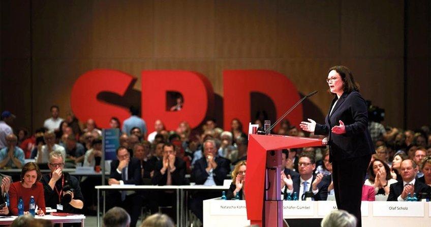 SPD'ye ilk kadın başkan
