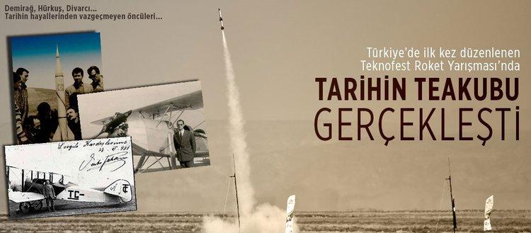 Teknofest Roket Yarışması'nda tarihin teakubu gerçekleşti