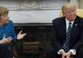 Donald Trump, Merkel'in elini neden sıkmadığını açıkladı