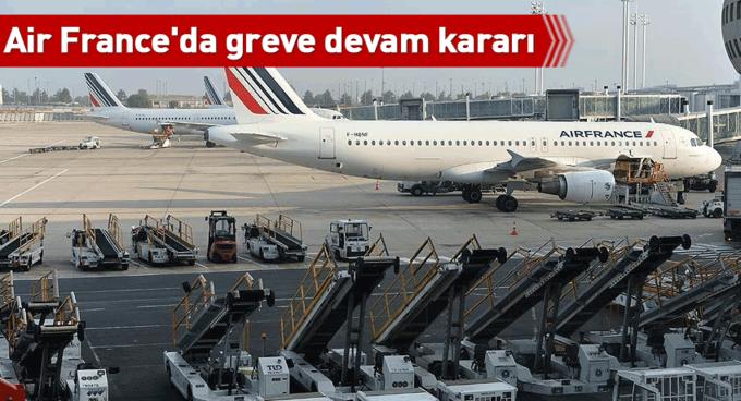 Air Franceda greve devam kararı