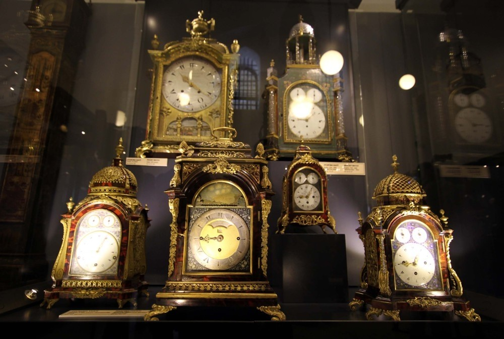 The clock collection at Topkapu0131 Palace.