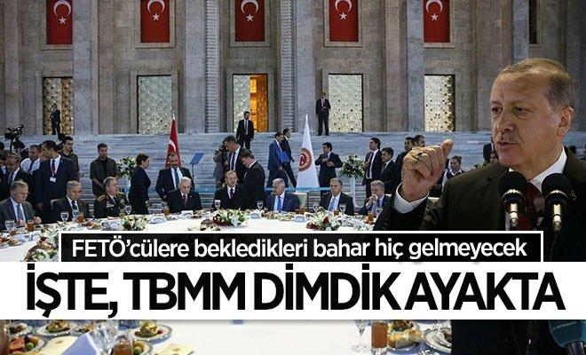 Erdoğan TBMM'deki iftar programına katıldı
