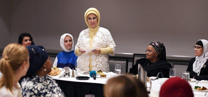 TURKEYS FIRST LADY HIGHLIGHTS WOMENS ROLE IN ISLAM