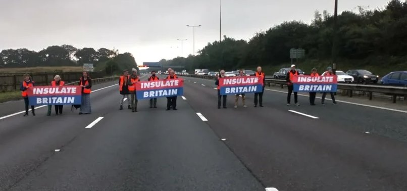 CLIMATE PROTESTS BRING LONDONS ORBITAL MOTORWAY TO A STANDSTILL