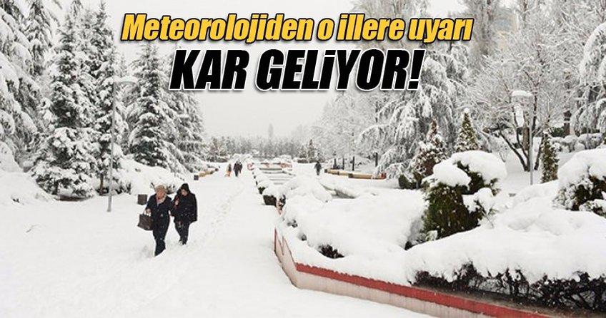 Meteoroloji'den 26 ile kar uyarısı