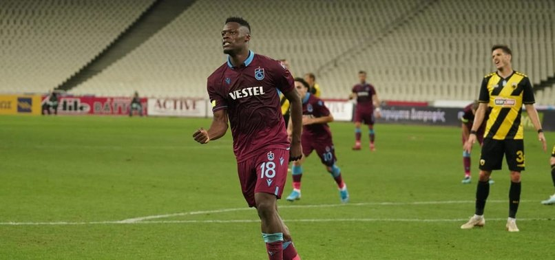 EKUBANS TRIPLE HELPS TRABZON BEAT 3-1 AEK ATHENS IN UEFA EUROPA LEAGUE PLAYOFFS