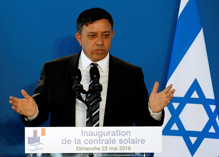 Israeli Environment Protection Minister Avi Gabbay delivers a speech near the southern Israeli city of Ashkelon May 22, 2016. (Reuters Photo)