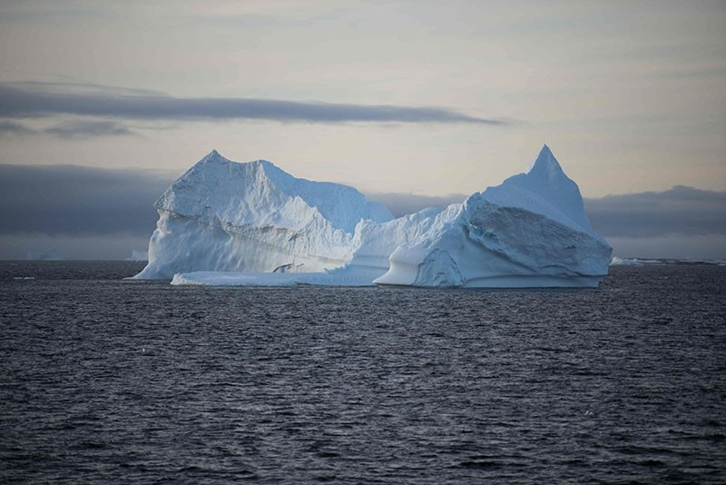 This file photo taken on March 02, 2016 shows an iceberg in the western Antarctic peninsula. (AFP Photo)