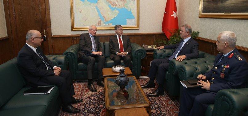 TURKISH DEFENSE CHIEF MEETS US SYRIA ENVOY