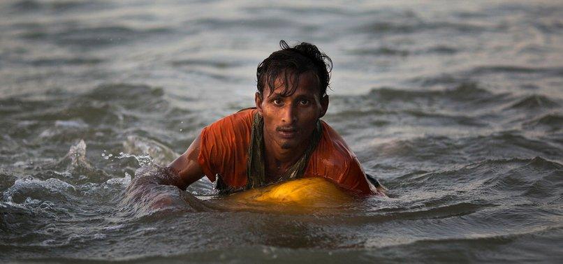 DESPERATE ROHINGYA SWIM 2.5 MILES FROM MYANMAR TO BANGLADESH