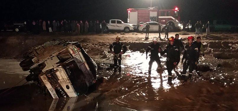 11 DEAD IN FLASH FLOODS IN JORDAN