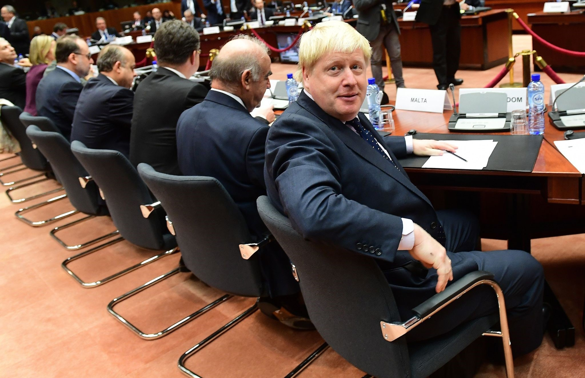 British Foreign Secretary Boris Johnson attends an EU foreign affairs council at the European Council, in Brussels on November 14, 2016. (AFP PHOTO)