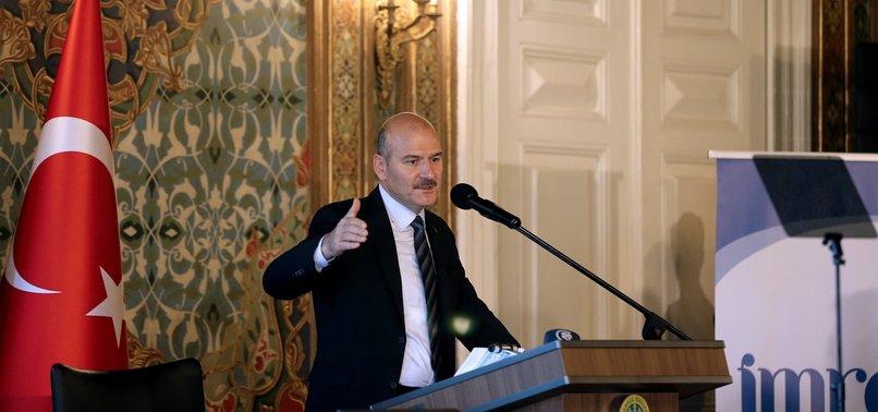 TURKEY MANAGING MIGRATION, NOT BLOCKING IT, INTERIOR MINISTER SOYLU SAYS
