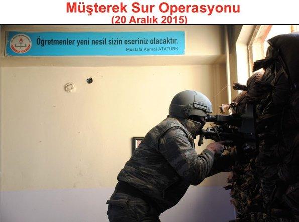 Sur'daki terör operasyonunun fotoğrafları paylaşıldı!