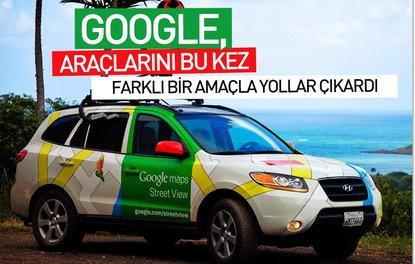 Google, araçlarını bu kez farklı bir amaçla yollara çıkardı