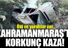 Kahramanmaraş'ta minibüs uçuruma yuvarlandı: 1 ölü, 13 yaralı!