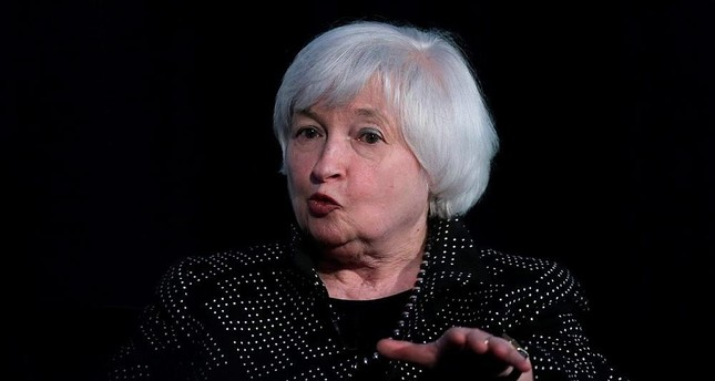 Fed Chair Janet Yellen speaks while being interviewed as part of a conversation at a Radcliffe Day event at Harvard University in Cambridge, Mass. On Wednesday, Sept. 21, 2016. (AP Photo)