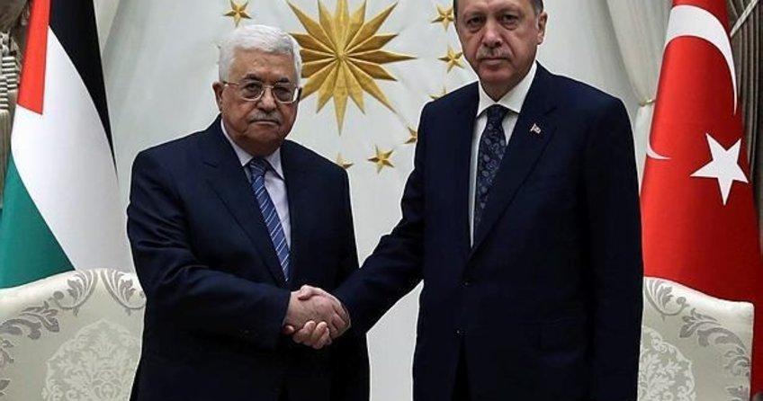 Filistin Devlet Başkanı Abbas, Cumhurbaşkanı Erdoğan ile görüştü!