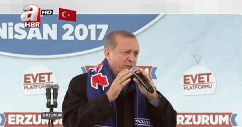 Cumhurbaşkanı Erdoğan Erzurum'da açıkladı! Hepsini devlet ödeyecek