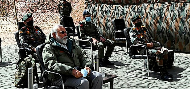INDIAS MODI VISITS HIMALAYAN BORDER WHERE TROOPS CLASHED WITH CHINA