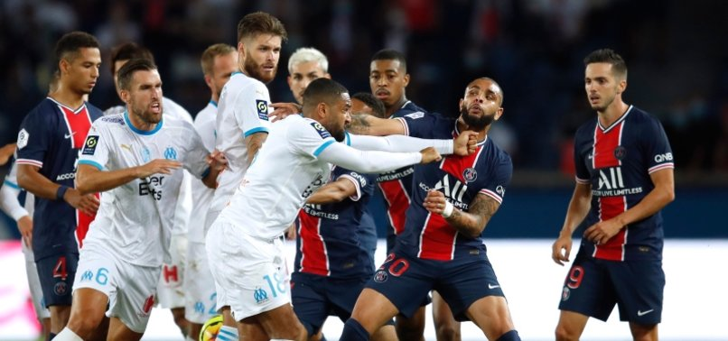 FIVE SENT OFF AS MARSEILLE GRAB RARE WIN AT PSG
