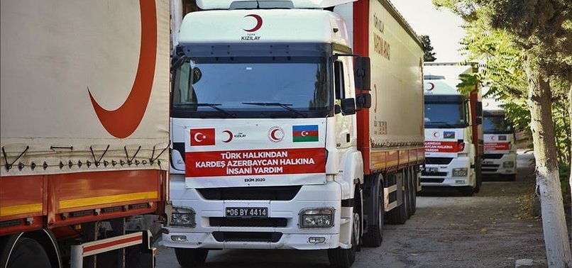 TURKEY SENDS HUMANITARIAN AID TO AZERBAIJAN