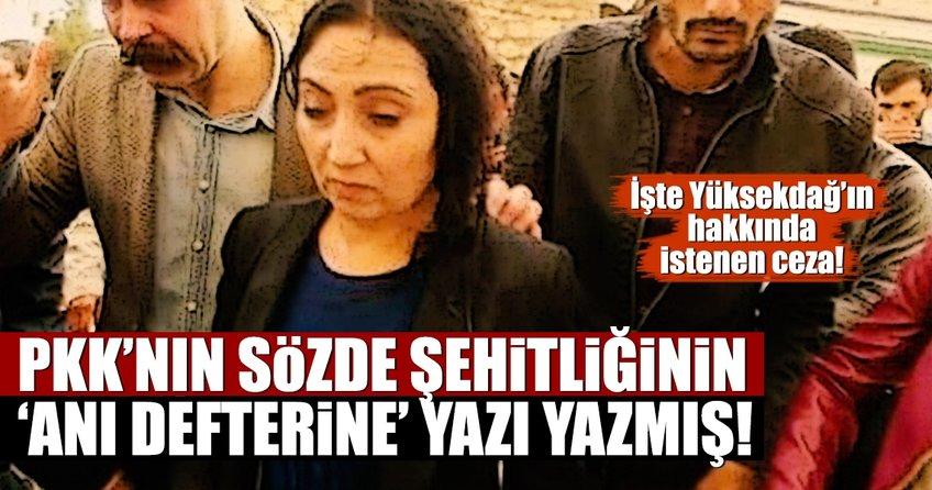 Yüksekdağ, PKK'nın anı defterine yazı yazmış