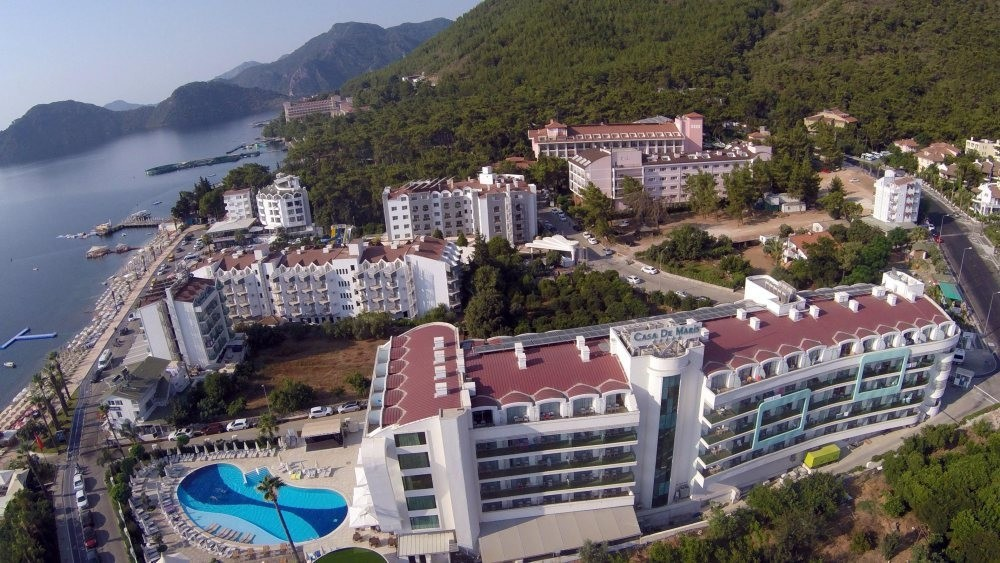 Aerial view of the hotel where Erdou011fan was staying when the coup attempt unfolded. Coup troops attacked the hotel to kill Erdou011fan. (Photo by Kenan Gu00fcrbu00fcz)