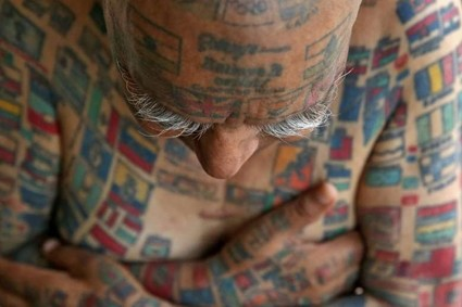 While it is the tattoos on his body, more than 500 in all, that brought him fame, Rishi says the toughest one was stuffing the straws in his mouth.