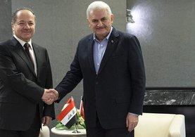 Başbakan Yıldırım ile Barzani görüşmesi sona erdi