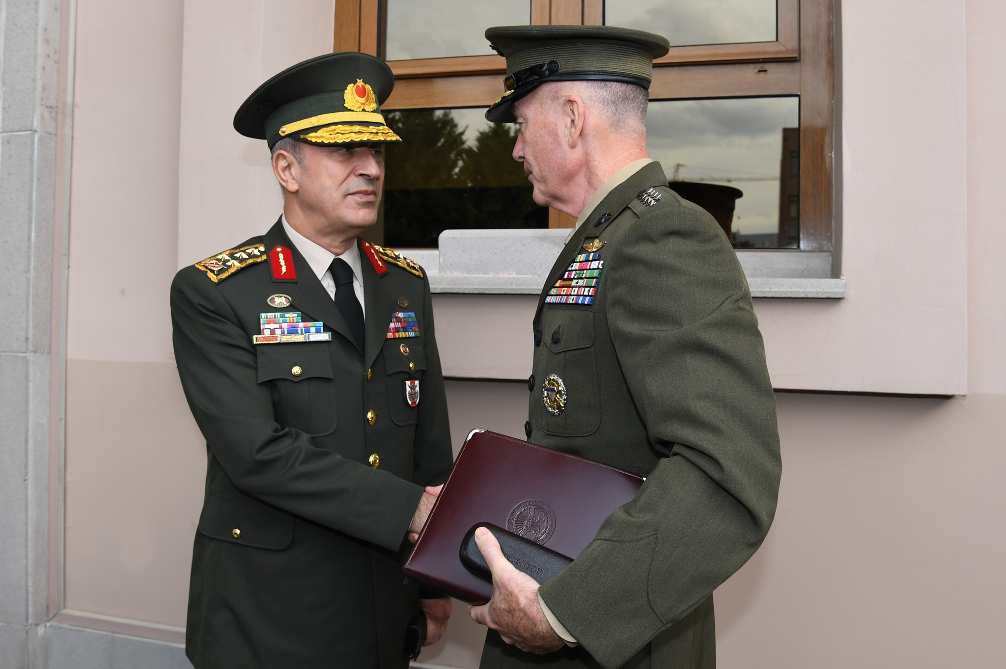 Army Gen. Hulusi Akar met with the Chairman of the U.S. Joint Chiefs of Staff Gen. Joseph Dunford in Ankara on Nov. 6, 2016. (IHA Photo)